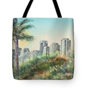 The Pike And Downtown Long Beach Tote Bag