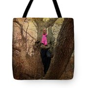 The Pink Scarf Tote Bag
