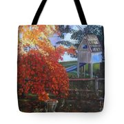 The Playhouse In Fall Tote Bag