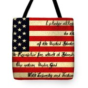 The Pledge Of Allegiance Tote Bag