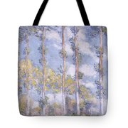 The Poplars Tote Bag by Claude Monet