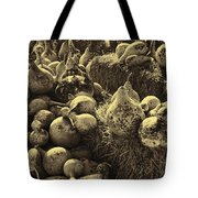 The Produce Of The Earth In Sepia Tote Bag