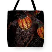 The Pumpkins In The Field Tote Bag