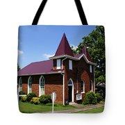 The Purple Church Tote Bag