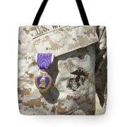 The Purple Heart Award Hangs Tote Bag by Stocktrek Images