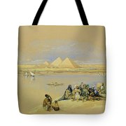 The Pyramids At Giza Near Cairo Tote Bag