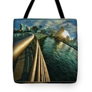 The Railing To The City Tote Bag