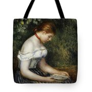 The Reader A Seated Young Girl  Tote Bag by Pierre Auguste Renoir