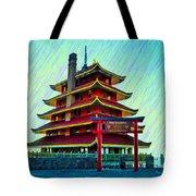 The Reading Pagoda Tote Bag