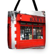 The Red Barber Shop Tote Bag