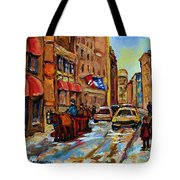 The Red Sled Tote Bag