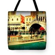 The Rialto Bridge Of Venice In Las Vegas Tote Bag