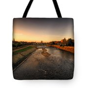 The River Exe At Tiverton Tote Bag