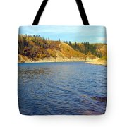 The River In Autumn Tote Bag
