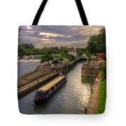 The River Thames At Goring Tote Bag