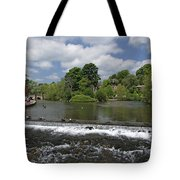 The Riverside And Weir - Bakewell Tote Bag