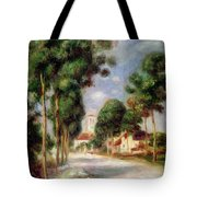 The Road To Essoyes Tote Bag by Pierre Auguste Renoir