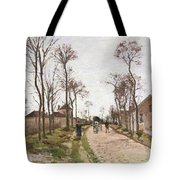 The Road To Saint Cyr At Louveciennes Tote Bag by Camille Pissarro