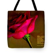 The Rose And Thorn Tote Bag