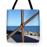 The Rust And The Sea Tote Bag