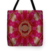 The Sacred Orchid Mandala Tote Bag
