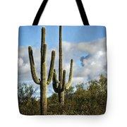 The Saguaros  Tote Bag