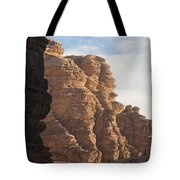 The Sandstone Cliffs Of The Wadi Rum Tote Bag