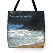 The Sea Complains Tote Bag