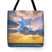 The Sea In The Sunset Tote Bag