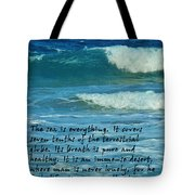The Sea Poster Tote Bag