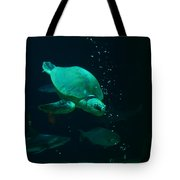 The Sea Turtle Dives Tote Bag