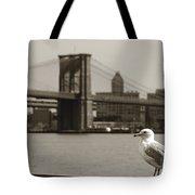 The Seagull Of The Brooklyn Bridge Tote Bag