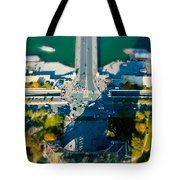 The Shadow Of The Eiffel Tower Tote Bag