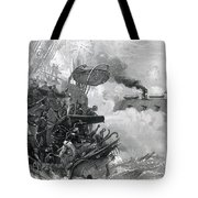 The Sinking Of The Cumberland, 1862 Tote Bag by Photo Researchers