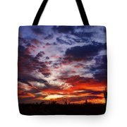 The Sky Is On Fire  Tote Bag
