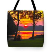 The Smiling Face Sunset Tote Bag