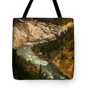 The Snaking Yellowstone Tote Bag