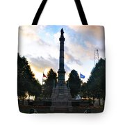 The Soldiers And Sailors Monument In Lafayette Square  Tote Bag