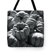 The Squash Harvest In Black And White Tote Bag