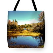 The Still Of Autumn In The Adirondacks Tote Bag