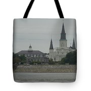 The St.louis Cathedral From Acorss The River Tote Bag