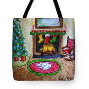 The Stockings Were Hung Tote Bag