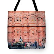 Street Life Of India Tote Bag