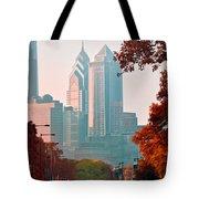 The Streets Of Philadelphia Tote Bag