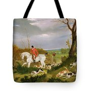 The Suffolk Hunt - Going To Cover Near Herringswell Tote Bag