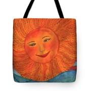 The Sun God Detail Of Red Sky At Night Tote Bag