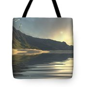 The Sun Sets On A Beautiful Tote Bag