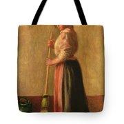 The Sweeper Tote Bag by Pierre Auguste Renoir