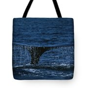 The Tail Flukes Of A Humpback Whale Tote Bag