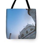 The Taj Mahal At Dusk, Low Angle View Tote Bag